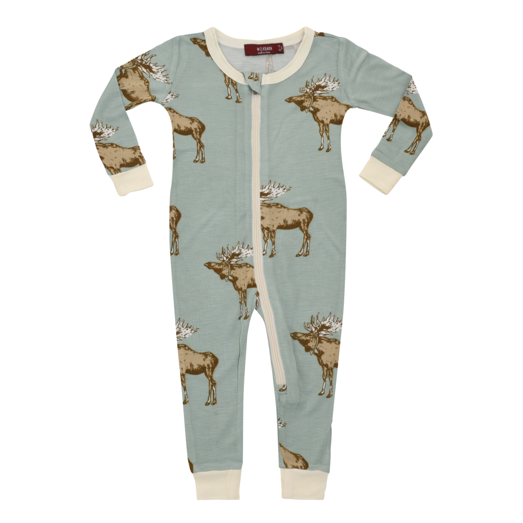 Zipper Babies Pyjamas – Blue Moose